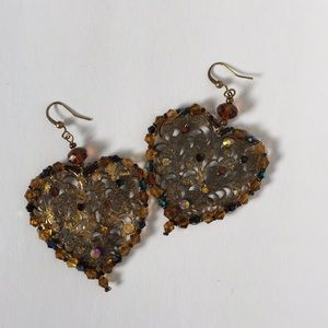 Jewelry - Hand beaded earrings